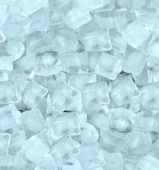 青い光の中で角氷と背景