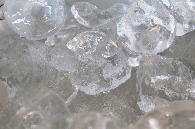 Background with ice cubes ,soft focus