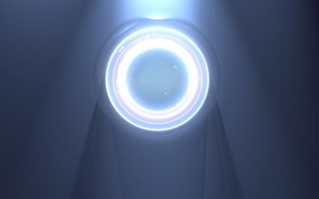 Фон с кольцами освещения 3d-рендеринга