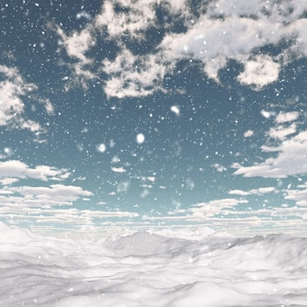 Background with lights and snowflakes