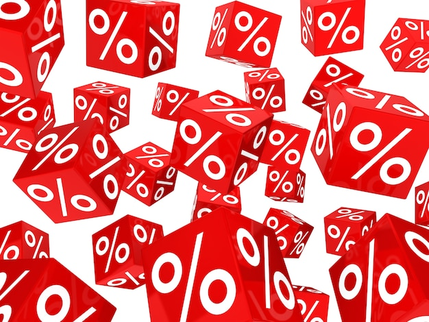 Background with many sale dice