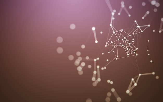 Background with molecules technology, polygonal shapes, connecting dots and lines. connection structure. big data visualization.