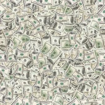 Background with money. seamless texture of 100 dollar bills