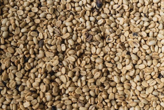 天然コーヒー豆の背景。