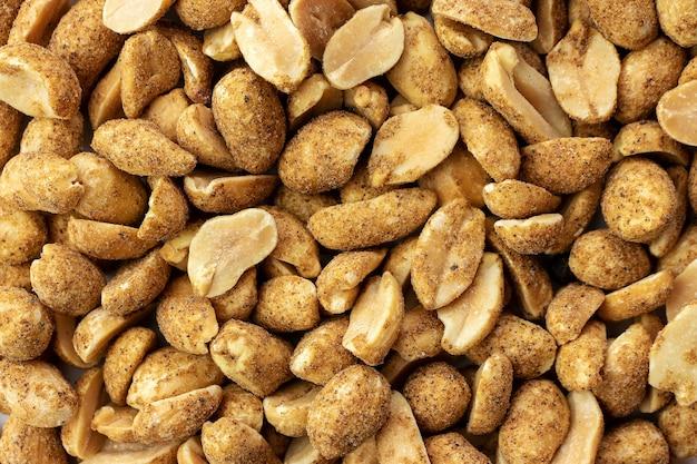 ナッツの背景、クローズアップ、唐辛子のナッツ