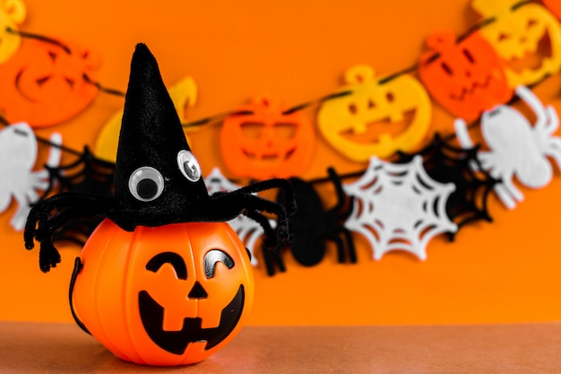 Background with ornament set halloween festival.