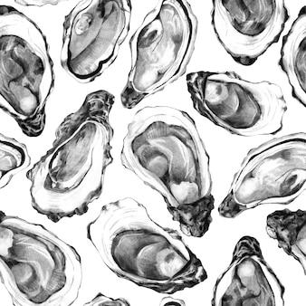 白地に牡蠣の殻の背景