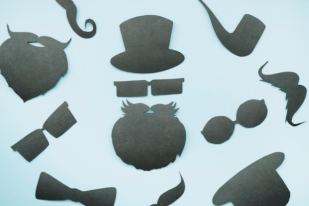 Background with paper mockup of gentleman