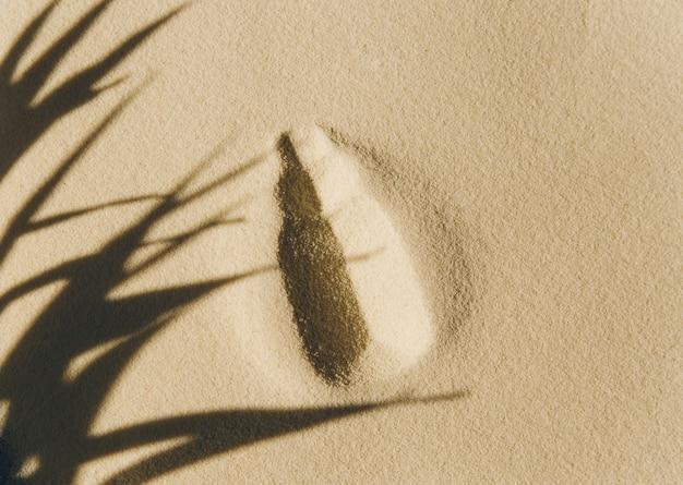 제품 프레젠테이션을 위한 파스텔 색상의 모래가 있는 배경