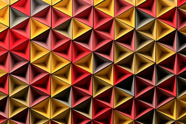 Background with randomlyed yellow red geometric shapes
