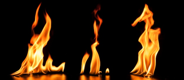 Background with realistic flames