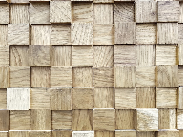Background with the texture of wooden cubes