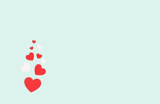 バレンタインギフトとハートの背景
