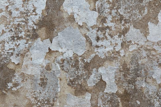 Фон с текстурой стены с шелушением старой белой краской.