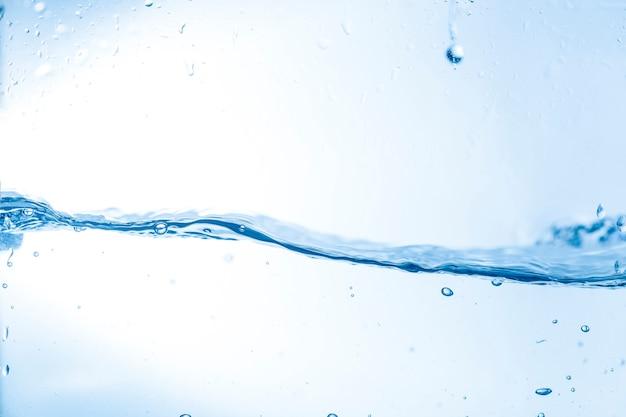 水の波と滴の背景