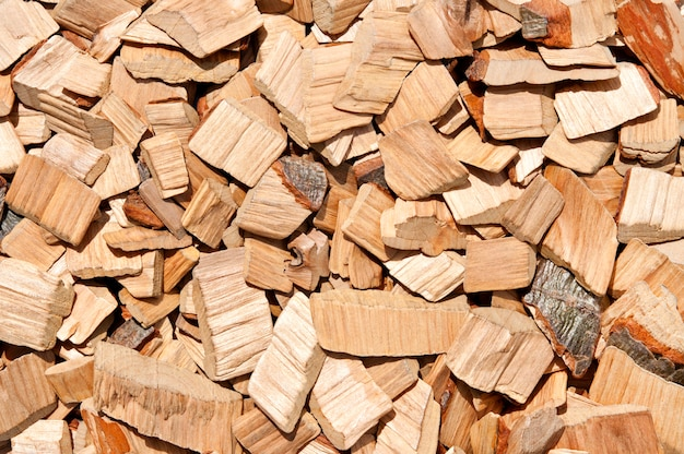 Background of wood chips.