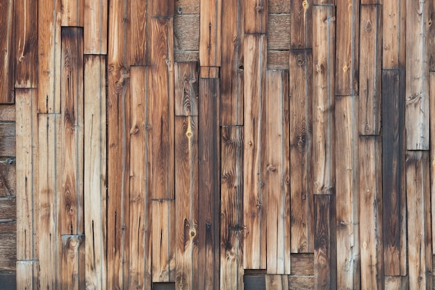 Background of wooden red old fence texture