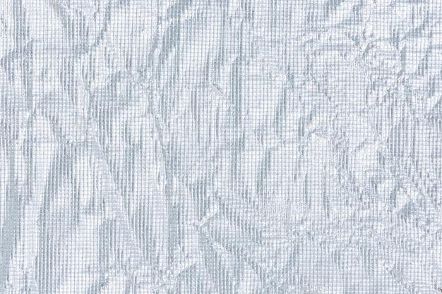 Background wrinkled silver paper