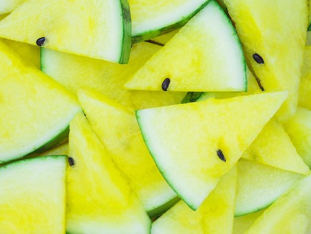 Background of yellow watermelon