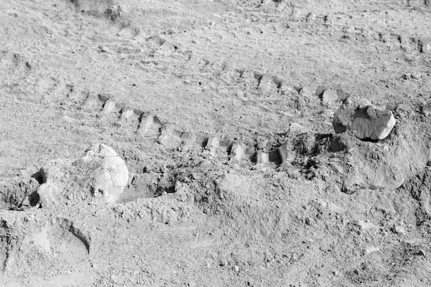 背景コレクション-地面のセメントの厚い層。産業廃棄物。