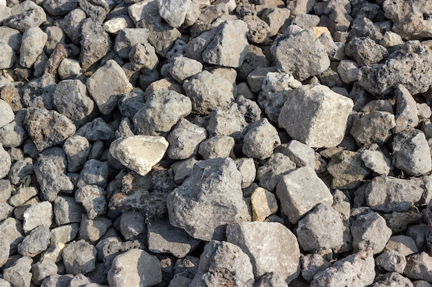 Backgrounds collection - texture consisting of rough stones on the ground