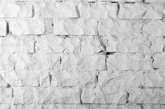 背景コレクション-白く塗られたレンガの壁のクローズアップテクスチャ