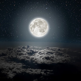 Backgrounds night sky with stars and moon and clouds wood elements of this image furnished by nasa