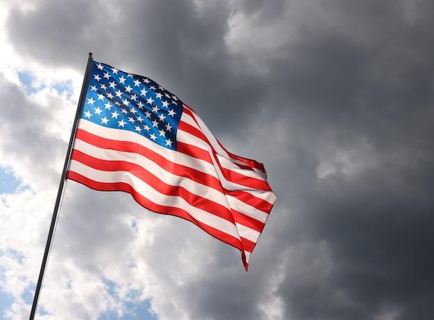 미국 애국심의 상징, 낮은 각도, 측면 전망