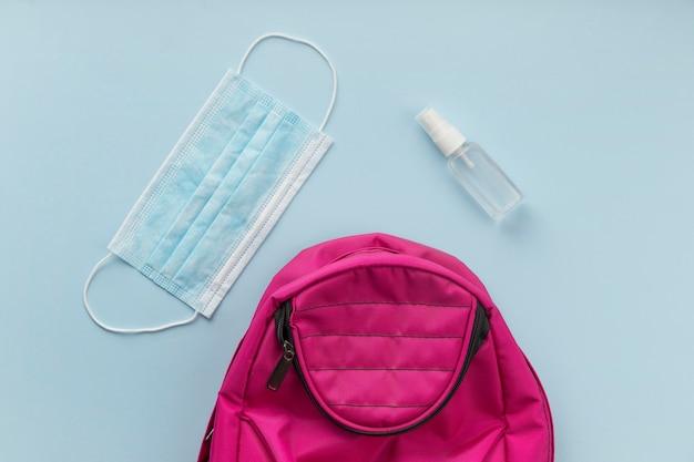 Элементы рюкзака во время пандемии