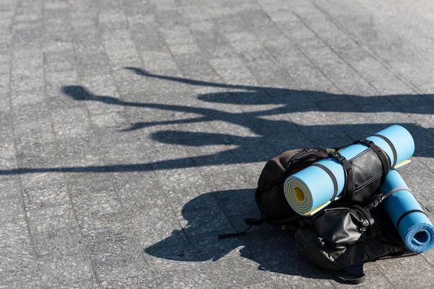 Рюкзаки готовы к путешествию на свежем воздухе