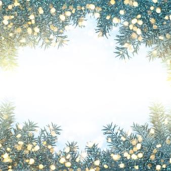 크리스마스 트리가 있는 배경