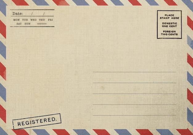 Оборотная сторона старой открытки с грязным пятном