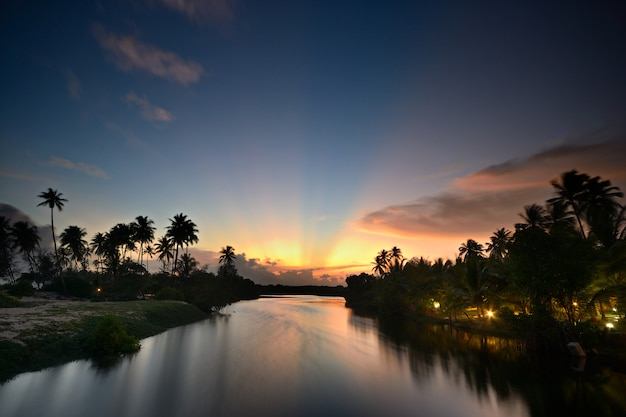 Backwaters red sunset