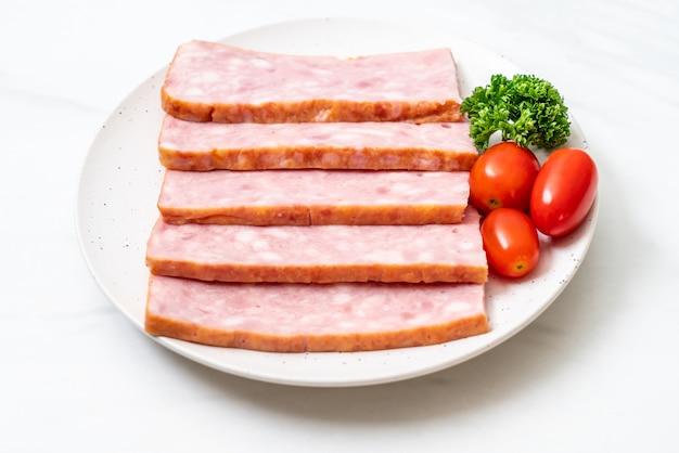 Bacon barbecue sliced