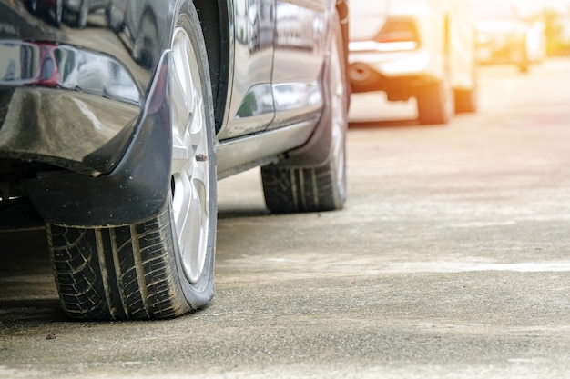 Bad day, car flat tire problem.