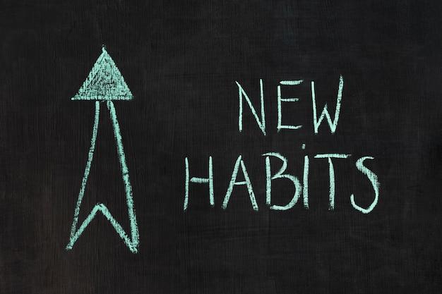 Bad habits concept