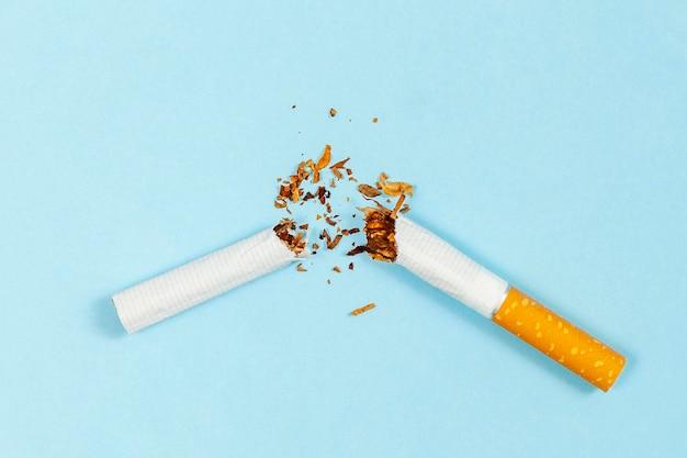 Bad smoking lifestyle habit