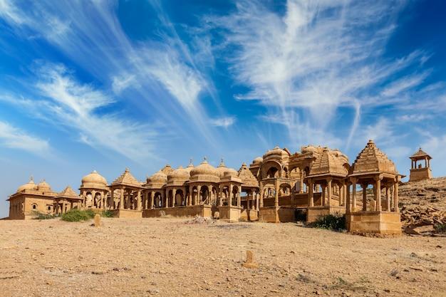 Руины бада багх в джодхпуре, раджастхан, индия