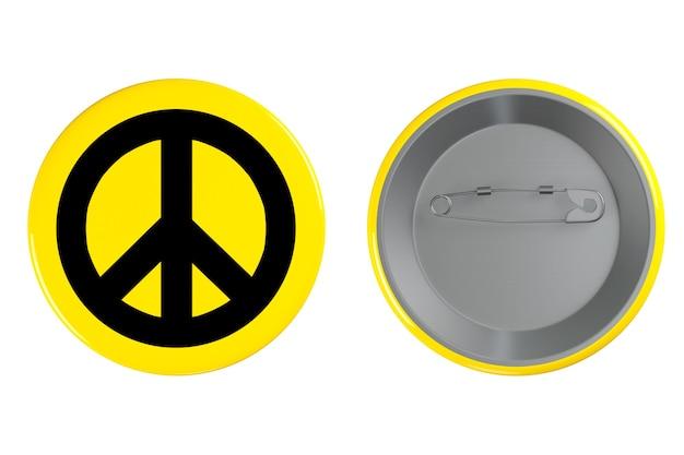 Значок со знаком мира на белом фоне