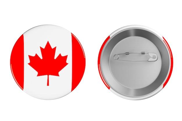 흰색 바탕에 캐나다 국기가 있는 배지