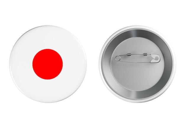 흰색 바탕에 일본 국기가 있는 배지