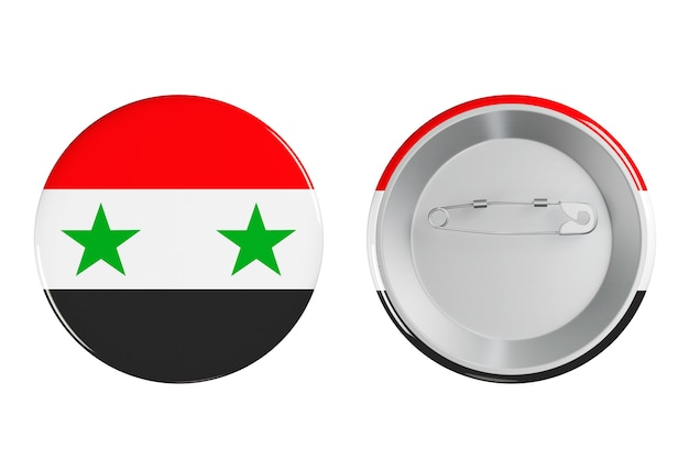흰색 바탕에 시리아 국기와 배지