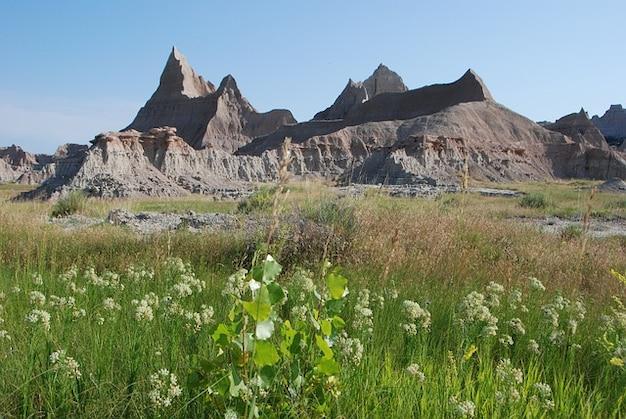 Badlands scenery colorful landscape mountains