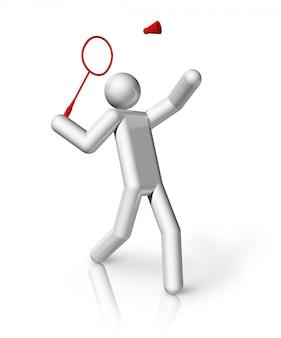 Badminton 3d symbol