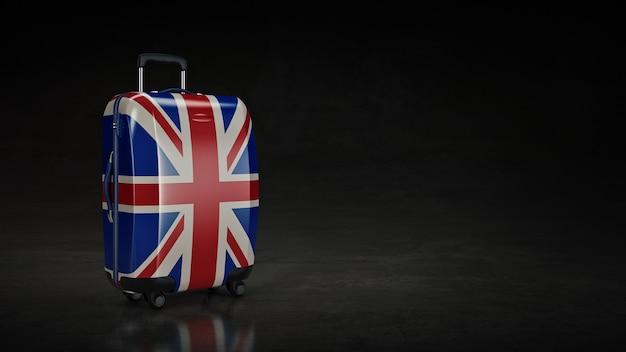 バッグイギリス国旗イギリスの旗3dレンダリング