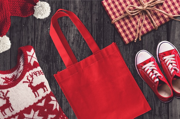 Bag in a chirstmas scene