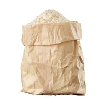 Bag of flour isolated