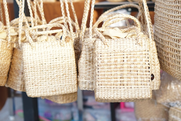 The bag is made from natural materials