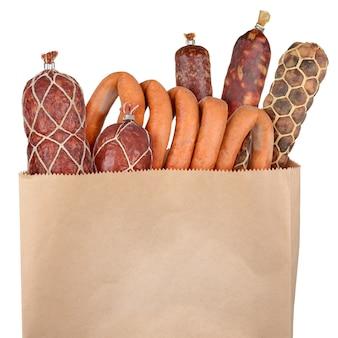 고립 된 식료품 가방