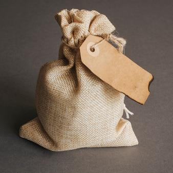 Bag with vintage tag